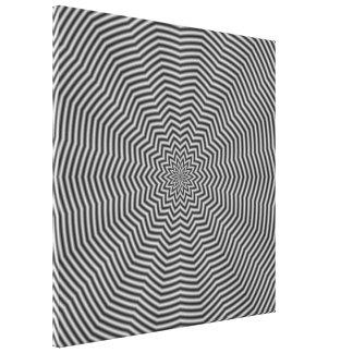 Ondulaciones de la estrella en blanco y negro impresión en lienzo