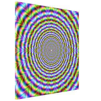 Ondulaciones de neón psicodélicas de la impresión