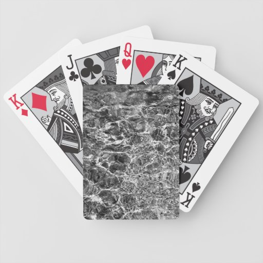 Ondulaciones del agua de río baraja cartas de poker