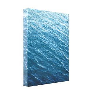 Ondulaciones del agua del océano impresión en lienzo