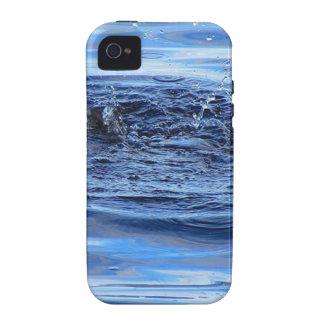 Ondulaciones del agua iPhone 4/4S carcasas