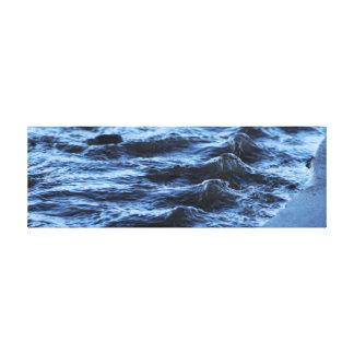 Ondulaciones del agua impresión en lienzo