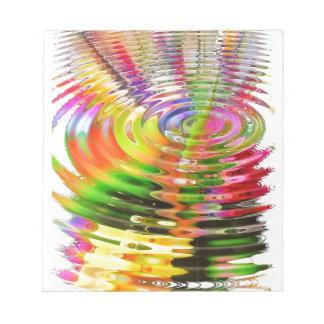 Ondulaciones del arco iris bloc de papel