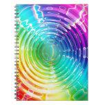 Ondulaciones del arco iris libros de apuntes con espiral