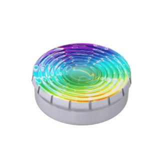 Ondulaciones del arco iris frascos de dulces