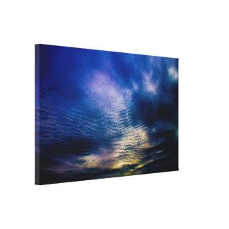 Ondulaciones del cielo impresión en lienzo