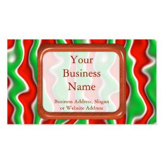 Ondulaciones del navidad plantillas de tarjeta de negocio