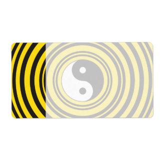 Ondulaciones del negro del amarillo del símbolo de etiqueta de envío