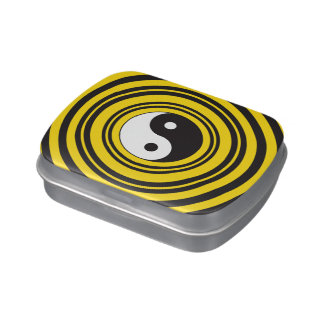 Ondulaciones del negro del amarillo del símbolo de jarrones de caramelos