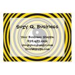 Ondulaciones del negro del amarillo del símbolo de plantilla de tarjeta de negocio
