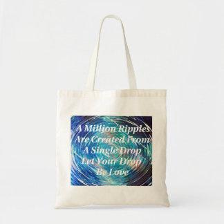 Ondulaciones del tote (azul) del amor bolsas