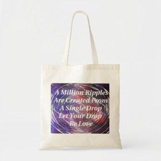 Ondulaciones del tote (púrpura) del amor bolsa