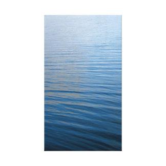 Ondulaciones en agua impresión en lienzo