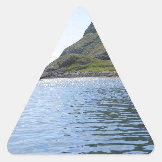 Ondulaciones en el agua pegatina triangular