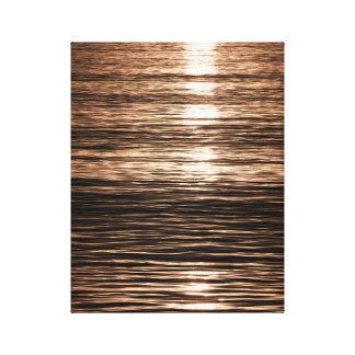 Ondulaciones en la puesta del sol impresión en lienzo