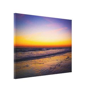 Ondulaciones en la salida del sol de la arena en impresión en lienzo