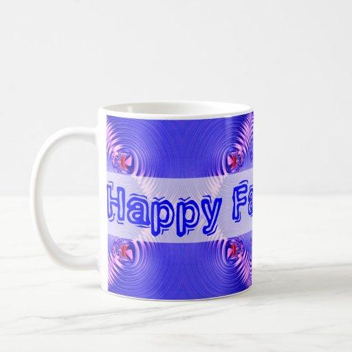 Ondulaciones felices del azul del día de padres tazas de café