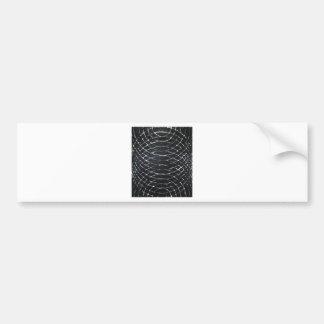 Ondulaciones negras concéntricas (minimalism negro pegatina de parachoque