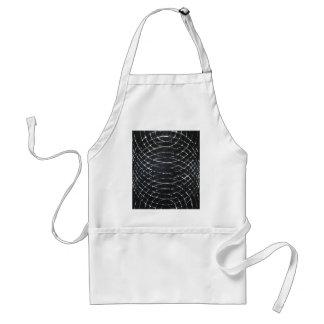Ondulaciones negras concéntricas minimalism negro delantal