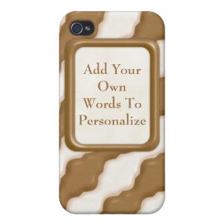 Ondulaciones onduladas - chocolate con leche y cho iPhone 4 cárcasa