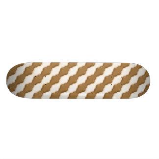 Ondulaciones onduladas - chocolate con leche y cho patines personalizados
