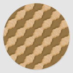 Ondulaciones onduladas - mantequilla de cacahuete etiquetas redondas