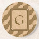 Ondulaciones onduladas - mantequilla de cacahuete  posavasos diseño