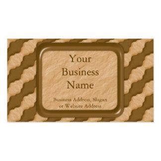 Ondulaciones onduladas - mantequilla de cacahuete  plantilla de tarjeta de negocio