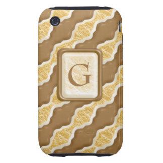 Ondulaciones onduladas - melcocha del chocolate carcasa resistente para iPhone