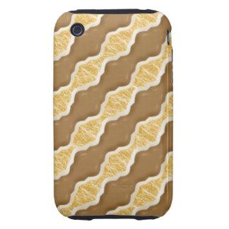Ondulaciones onduladas - melcocha del chocolate funda resistente para iPhone 3