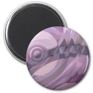 Ondulaciones púrpuras imán redondo 5 cm