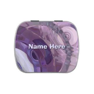 Ondulaciones púrpuras frascos de dulces