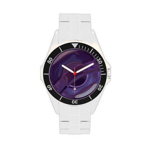 Ondulaciones púrpuras relojes