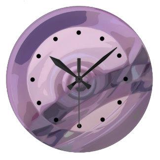 Ondulaciones púrpuras reloj de pared
