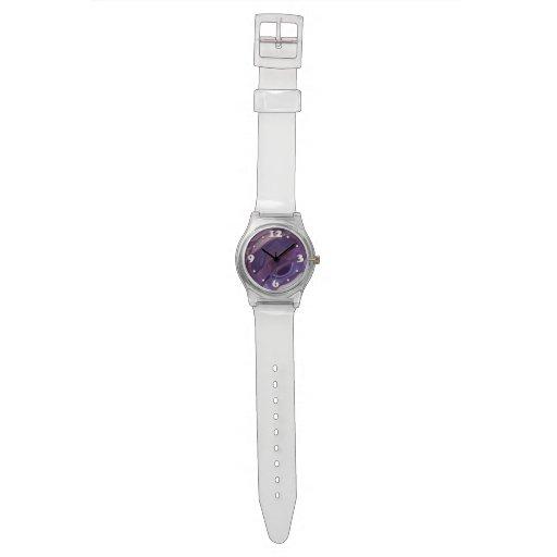 Ondulaciones púrpuras reloj