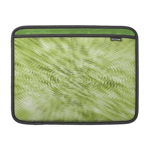 Ondulaciones verdes fundas MacBook