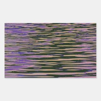 Ondulaciones violetas pegatina rectangular