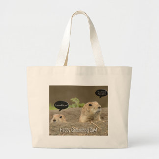 One a year, Groundhog Day Large Tote Bag