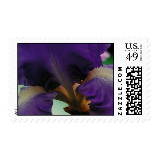 One amazing iris postage