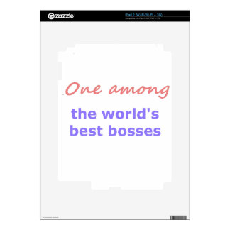 One among best bosses iPad 2 decals