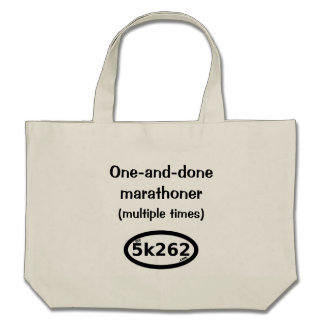 One-and-done full marathoner (multiple times) bags