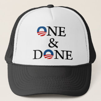 one and done trucker hat