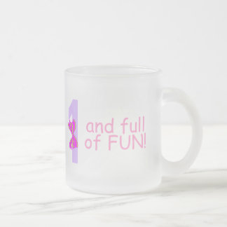 One And full Of Fun (Bow) Frosted Glass Coffee Mug