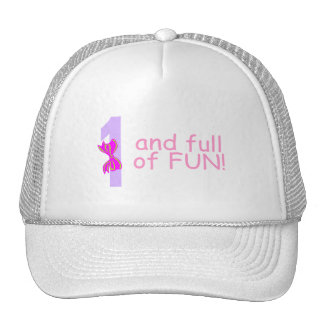 One And full Of Fun (Bow) Mesh Hat