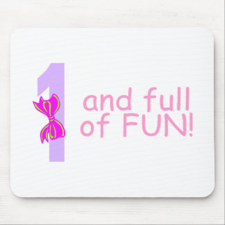 One And full Of Fun (Bow) Mouse Pad