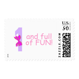 One And full Of Fun (Bow) Postage