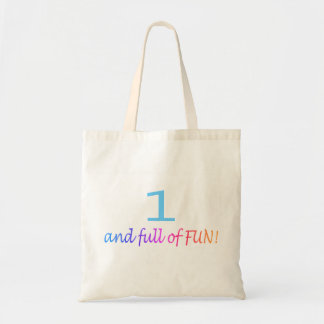 One And Full Of Fun (Color) Budget Tote Bag