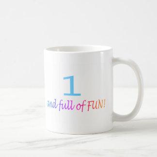 One And Full Of Fun (Color) Coffee Mug