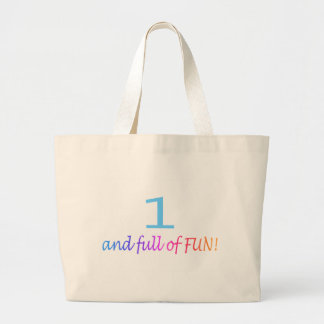 One And Full Of Fun (Color) Large Tote Bag