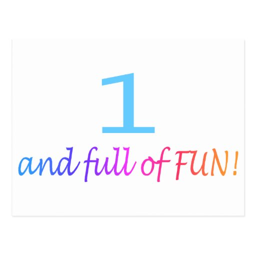 One And Full Of Fun (Color) Postcard